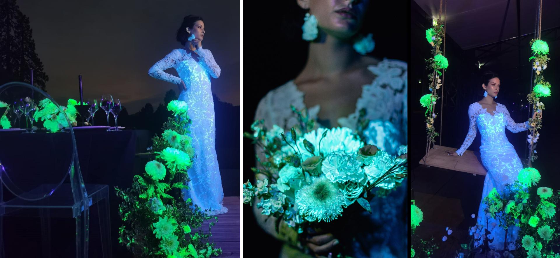 mariage-magique-original-fluorescent-lumineux-fleurs